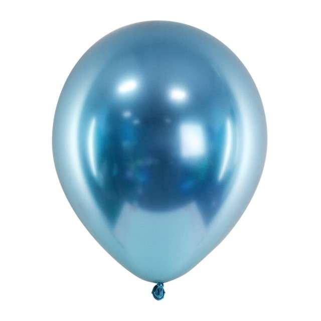 """Balony """"Glossy"""", niebieski, Partydeco, 12"""", 50 szt"""