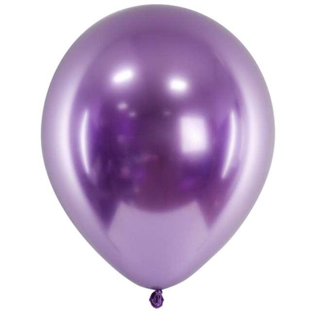 "Balony ""Glossy"", fioletowe, Partydeco, 12"", 50 szt"