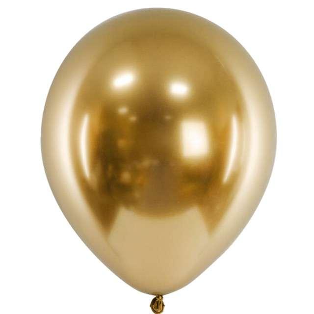 """Balony """"Glossy"""", złote,  Partydeco, 12"""", 50 szt"""