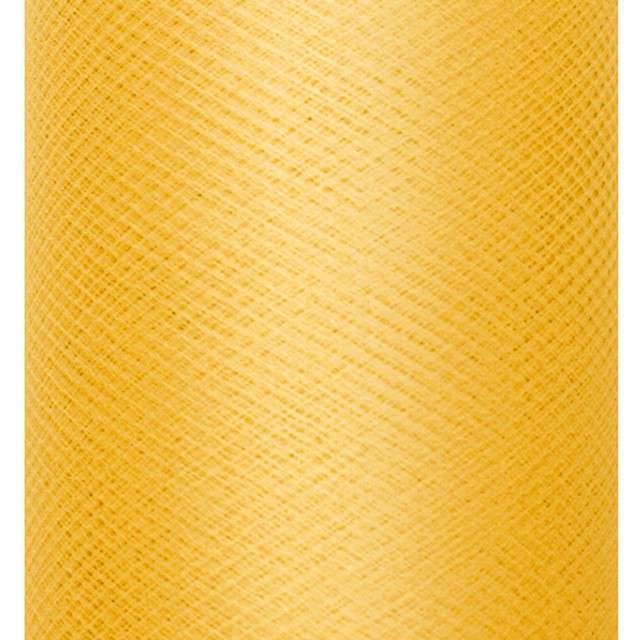 Tiul gładki, zółty, PartyDeco, 0,3x50m, 1szt