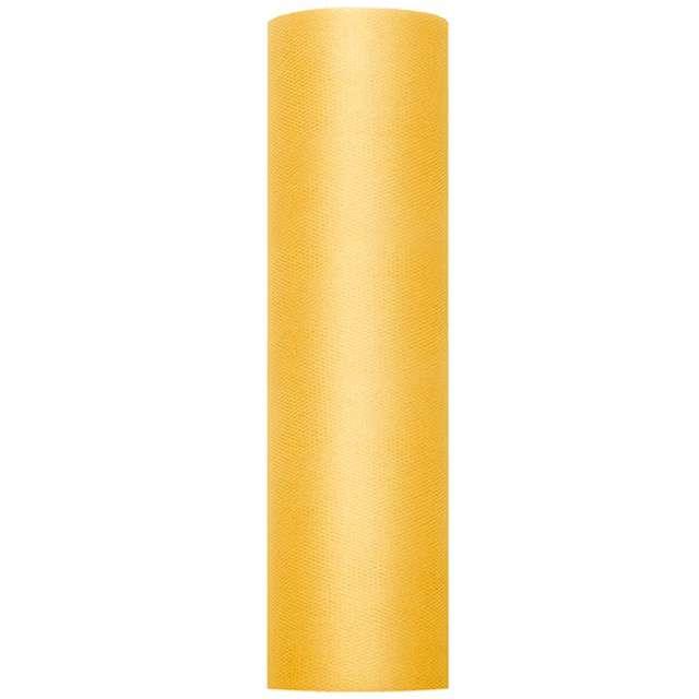 Tiul gładki zółty PartyDeco 03x50m 1szt
