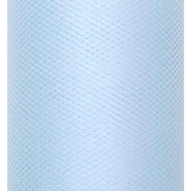 Tiul gładki, błękitny, Partydeco, 0,3 x 50m, 1 szt,