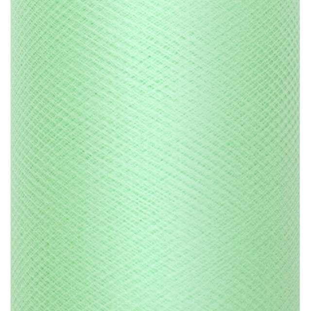 Tiul gładki, miętowy, PartyDeco, 0,3x50m