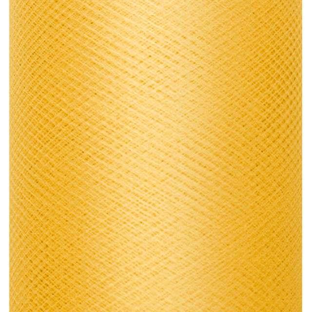 Tiul gładki, zółty, PartyDeco, 0,3x50m