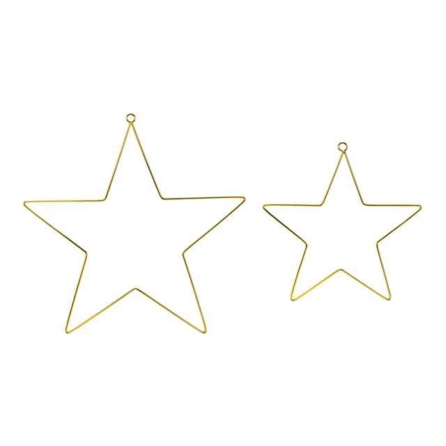 Metalowe zawieszki dekoracyjne Gwiazdy, Partydeco