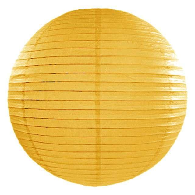 Lampion papierowy, ciemny żółty, 20cm PATRYDECO