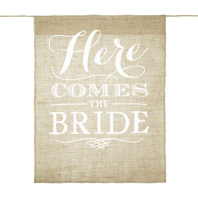 "Baner ""Panna Młoda - Here Comes the Bride"", PartyDeco"
