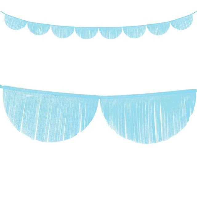 """Girlanda bibułowe """"Frędzle"""", błękitna, PartyDeco, 3m"""