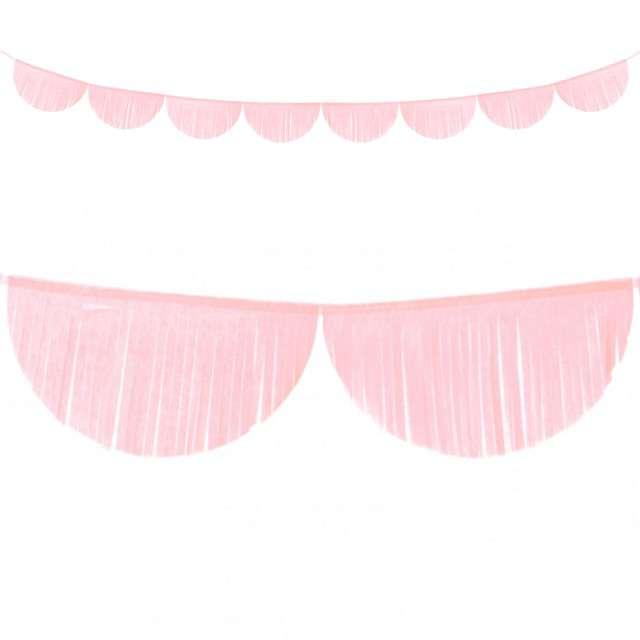"""Girlanda bibułowe """"Frędzle"""", różowy jasny, PartyDeco, 3m"""