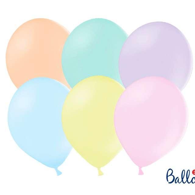 """Balony Strong """"Pastelowe"""", mix, PartyDeco, 27cm, 100szt"""