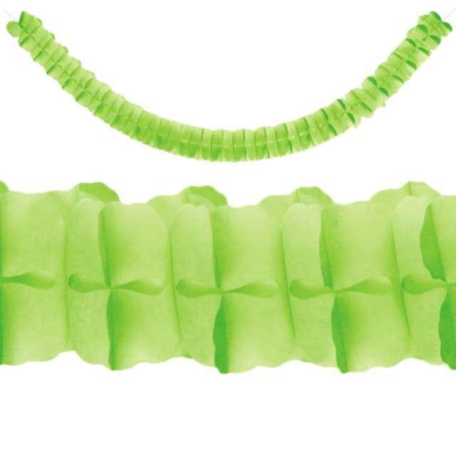 """Girlanda bibułowa """"Classic"""", zielone jabłuszko, PartyDeco, 3m"""