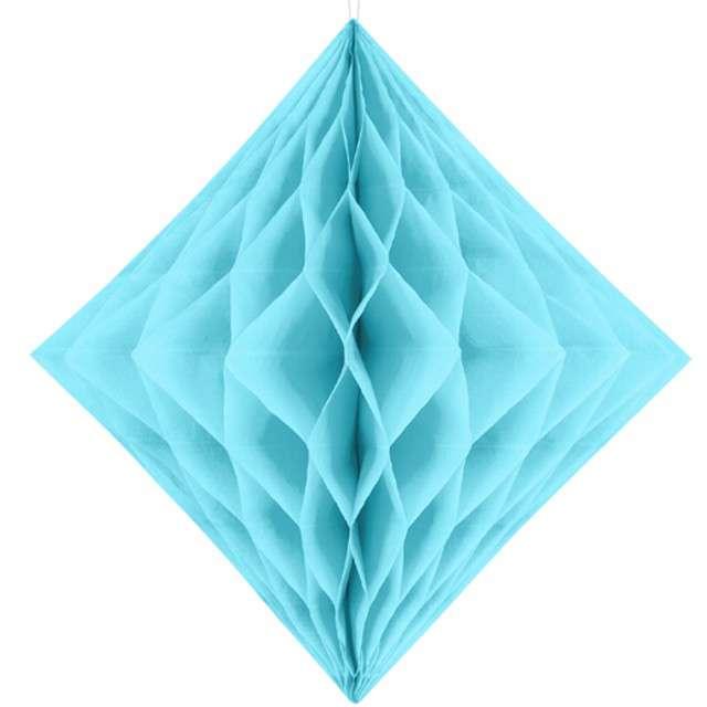 """Diament bibułowy """"Classic Honeycomb"""" , błękitny, 20cm"""