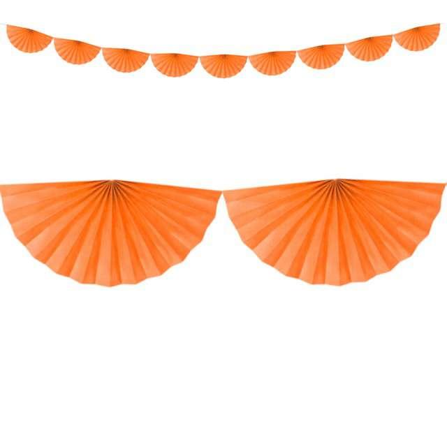 Girlanda bibułowa Rozety pomarańczowa Partydeco 300 cm
