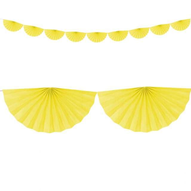 """Girlanda bibułowa """"Rozety"""", żółty, Partydeco, 300 cm"""