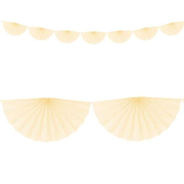 Girlanda bibułowa Rozety kremowa jasna Partydeco 300 cm