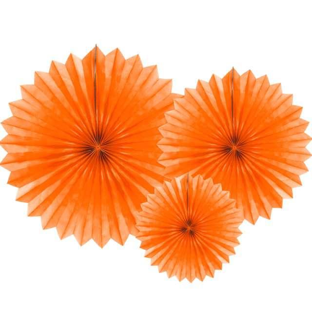 """Rozeta wisząca """"Classic """", pomarańczowa, PartyDeco, 3 szt"""