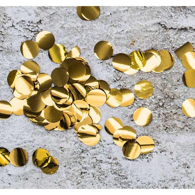 Konfetti Classic  złote PartyDeco 15g