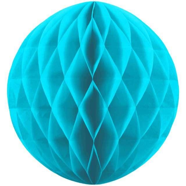 "Kula bibułowa ""Classic Honeycomb"", turkus, 30cm"