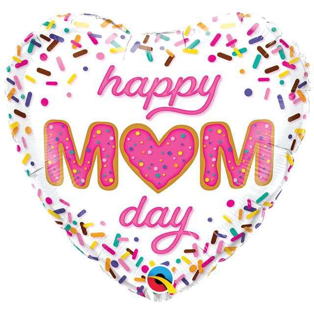 Balon foliowy Happy Mom Day - Dzień Matki QUALATEX 18 HRT