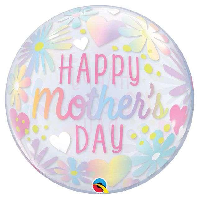 """Balon foliowy """"Happy Mothers Day"""", różowy, Qualatex, 22"""", RND"""