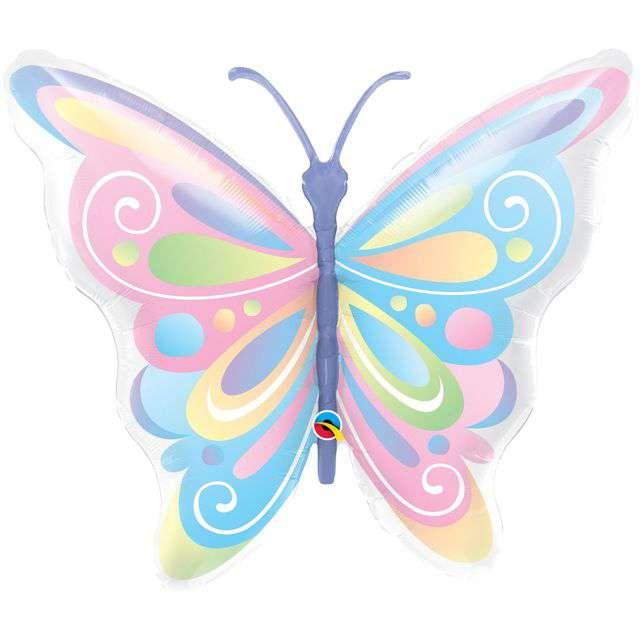 Balon foliowy Motyl Kolorowy QUALATEX 40 SHP
