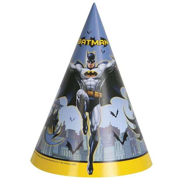 """Czapeczki papierowe """"Batman"""", UNIQUE, 8 szt"""