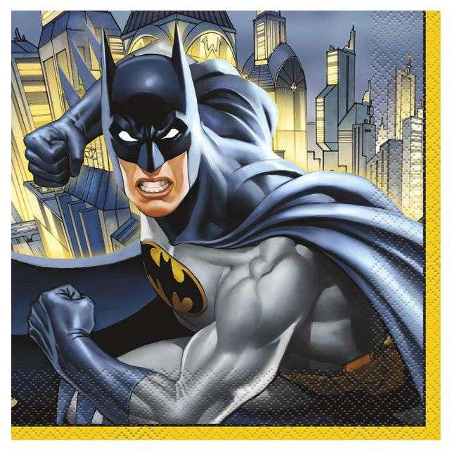 """Serwetki """"Batman"""", UNIQUE, 33 cm, 16 szt"""