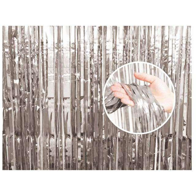"""Kurtyna na drzwi """"Classic"""", srebrna, 90x240 cm"""