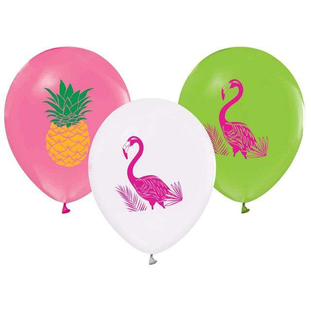 _xx_Balony Flamingi i Ananasy 12 5 szt.