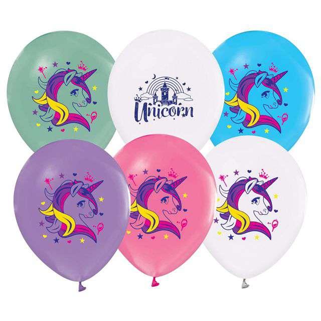"""Balony """"Jednorożce"""", Godan, 12"""", 5 szt."""