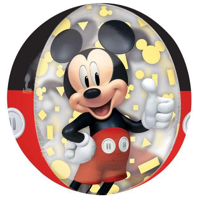 "Balon foliowy ""Myszka Mickey"", AMSCAN, 16"" ORB"
