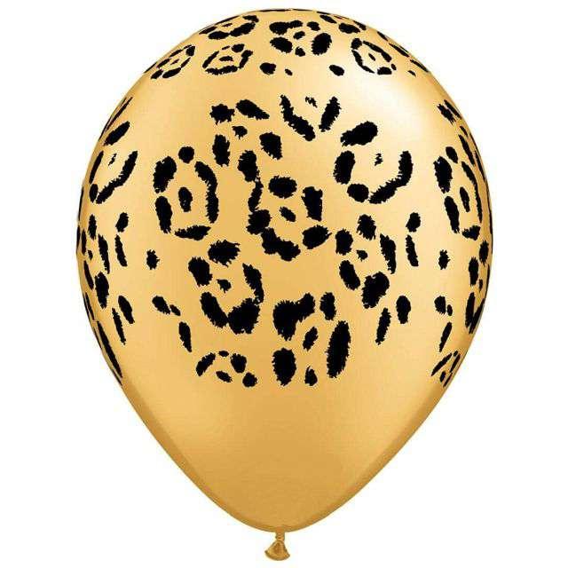 Balony Lampart złote QUALATEX 11 25 szt