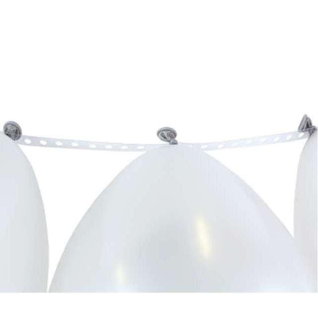 Taśma do girland balonowych biała Godan 5 m