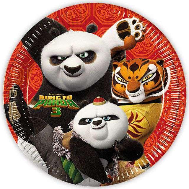 """Talerzyki papierowe """"Kung Fu Panda 3"""", Procos, 23 cm, 8 szt"""