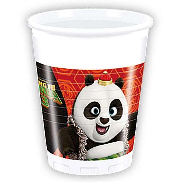 "Kubeczki plastikowe ""Kung Fu Panda 3"", 200 ml, Procos, 8 szt."