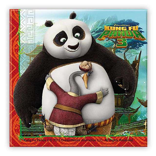 Serwetki Kung Fu Panda 3 Procos 33 cm 20 szt
