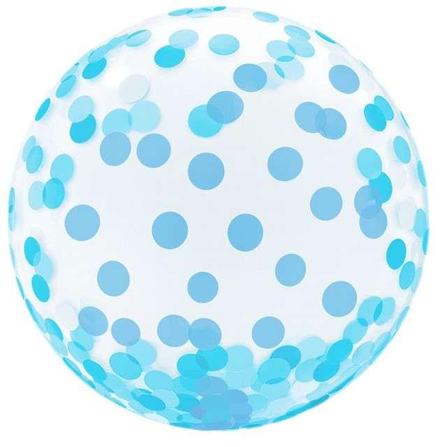 """Balon foliowy """"Kryształowe Grochy"""", niebieski, GODAN, 18"""" ORB"""