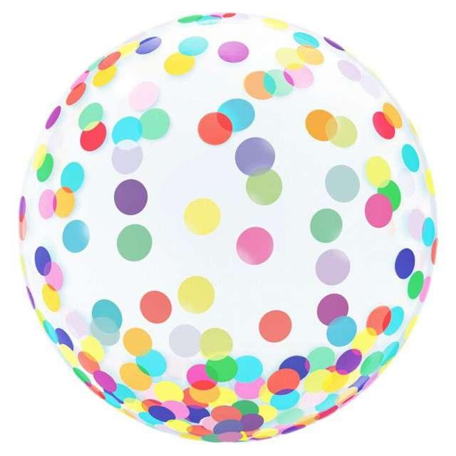 """Balon foliowy """"Kolorowe Grochy"""", GODAN, 18"""" ORB"""
