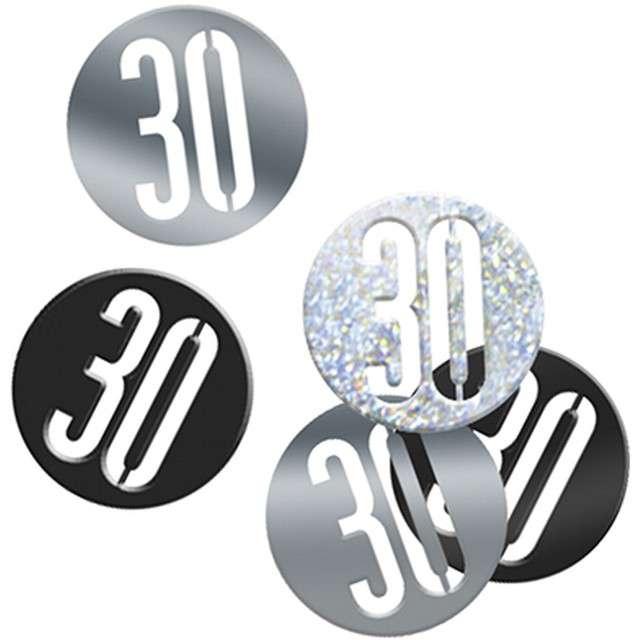 Konfetti 30w kółku czarno-srebrne UNIQUE 14g