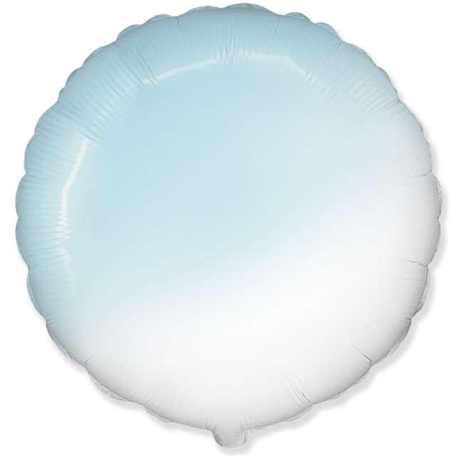 Balon foliowy Okrągły biało błękitny FLEXMETAL 18 RND