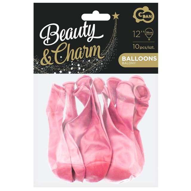 Balony Beauty and Charm różowy metalik Godan 12 10 szt