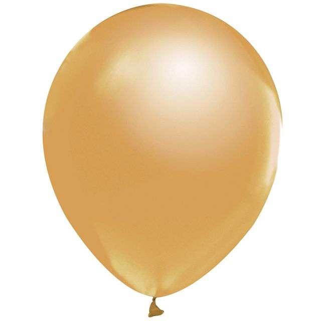 Balony Beauty and Charm złoty metalik Godan 12 10 szt