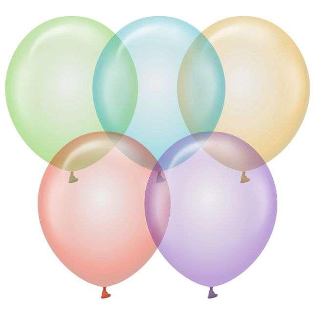 """Balony """"Beauty and Charm"""", mix transparentny, Godan, 12"""", 10 szt"""
