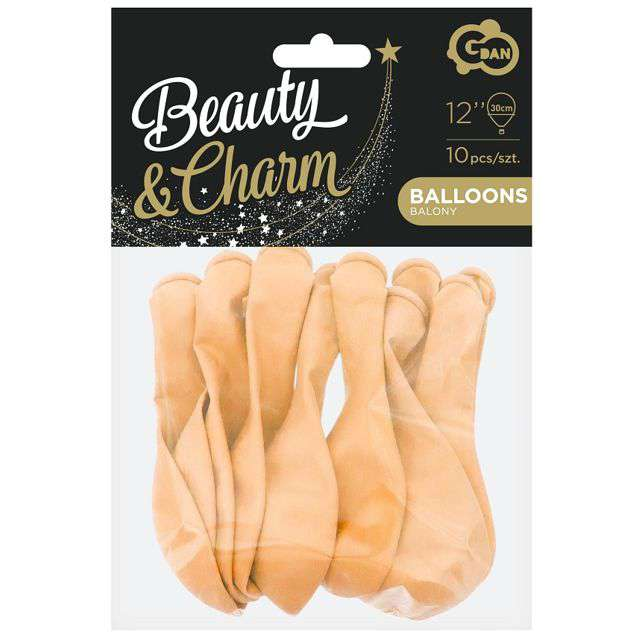 Balony Beauty and Charm łososiowe Godan 12 10 szt