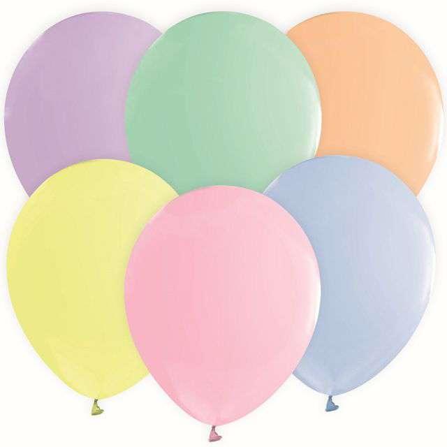 "Balony ""Beauty and Charm"", pastel mix, Godan, 12"", 10 szt"
