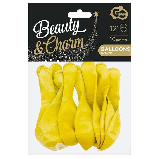 Balony Beauty and Charm żółte Godan 12 10 szt