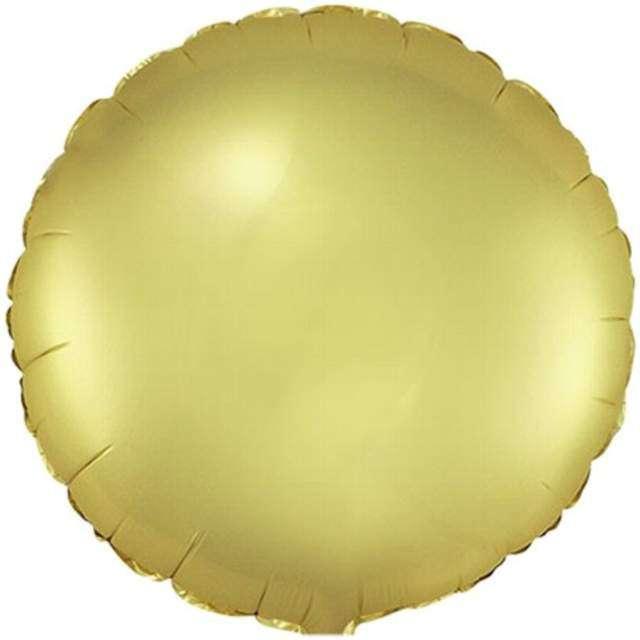 Balon foliowy Okrągły satynowy złoty FLEXMETAL 18 RND