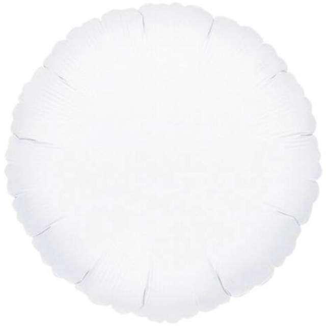 Balon foliowy Okrągły biały FLEXMETAL 18 RND