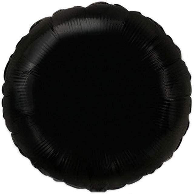 """Balon foliowy """"Okrągły"""", czarny, FLEXMETAL, 18"""" RND"""