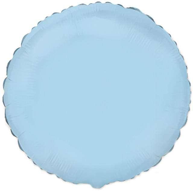 """Balon foliowy """"Okrągły"""", błękitny, FLEXMETAL, 18"""" RND"""